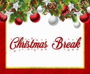 Gargiulo's will be on Christmas Break 12/26